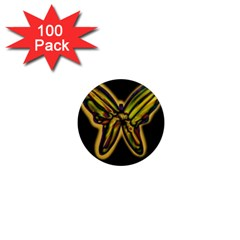 Night butterfly 1  Mini Magnets (100 pack)