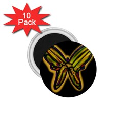 Night butterfly 1.75  Magnets (10 pack)