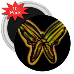 Night butterfly 3  Magnets (10 pack)
