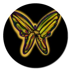 Night butterfly Magnet 5  (Round)