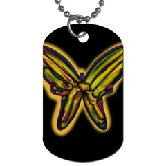 Night butterfly Dog Tag (Two Sides)