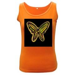 Night butterfly Women s Dark Tank Top
