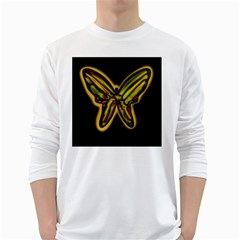 Night butterfly White Long Sleeve T-Shirts
