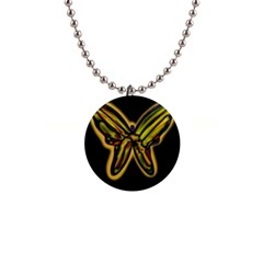 Night butterfly Button Necklaces