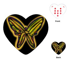 Night butterfly Playing Cards (Heart)