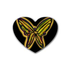 Night butterfly Rubber Coaster (Heart)
