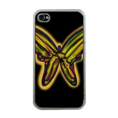 Night butterfly Apple iPhone 4 Case (Clear)