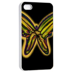 Night butterfly Apple iPhone 4/4s Seamless Case (White)