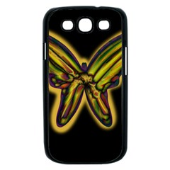 Night butterfly Samsung Galaxy S III Case (Black)