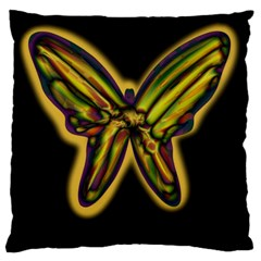 Night butterfly Large Cushion Case (Two Sides)