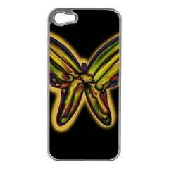 Night butterfly Apple iPhone 5 Case (Silver)