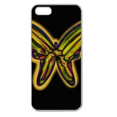Night butterfly Apple Seamless iPhone 5 Case (Clear)