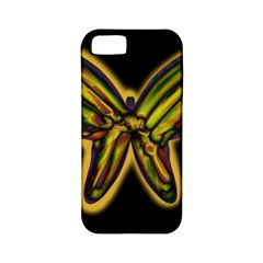 Night butterfly Apple iPhone 5 Classic Hardshell Case (PC+Silicone)