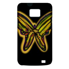 Night butterfly Samsung Galaxy S II i9100 Hardshell Case (PC+Silicone)