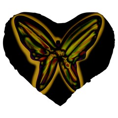 Night butterfly Large 19  Premium Heart Shape Cushions