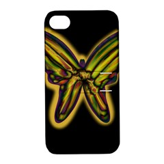 Night butterfly Apple iPhone 4/4S Hardshell Case with Stand