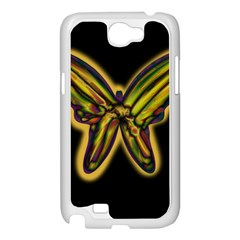 Night butterfly Samsung Galaxy Note 2 Case (White)