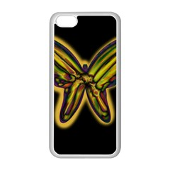 Night butterfly Apple iPhone 5C Seamless Case (White)