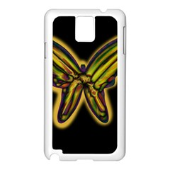 Night butterfly Samsung Galaxy Note 3 N9005 Case (White)