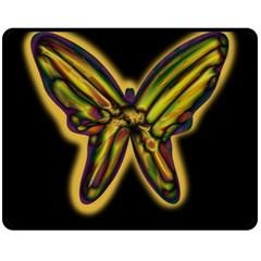 Night butterfly Double Sided Fleece Blanket (Medium)
