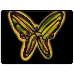 Night butterfly Double Sided Fleece Blanket (Large)