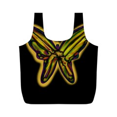 Night butterfly Full Print Recycle Bags (M)