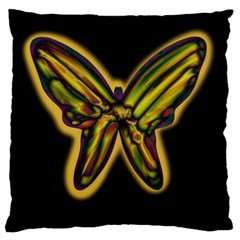 Night butterfly Standard Flano Cushion Case (One Side)