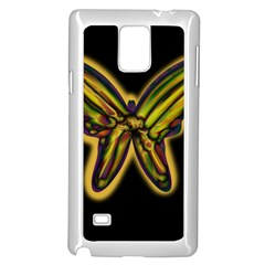 Night butterfly Samsung Galaxy Note 4 Case (White)