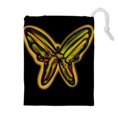 Night butterfly Drawstring Pouches (Extra Large)