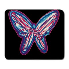 Neon butterfly Large Mousepads