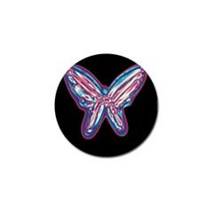 Neon butterfly Golf Ball Marker