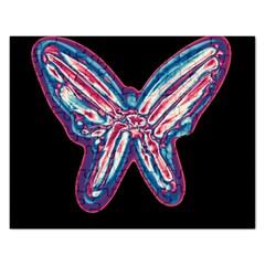 Neon butterfly Rectangular Jigsaw Puzzl