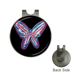 Neon butterfly Hat Clips with Golf Markers