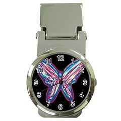 Neon butterfly Money Clip Watches