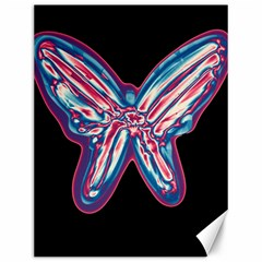 Neon butterfly Canvas 12  x 16