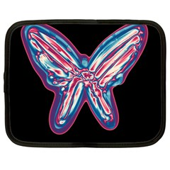 Neon butterfly Netbook Case (Large)