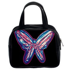 Neon butterfly Classic Handbags (2 Sides)