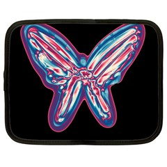 Neon butterfly Netbook Case (XL)