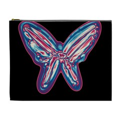 Neon butterfly Cosmetic Bag (XL)