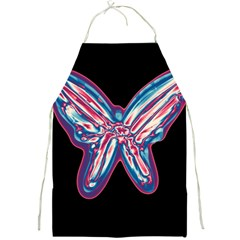 Neon butterfly Full Print Aprons