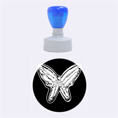 Neon butterfly Rubber Round Stamps (Medium)