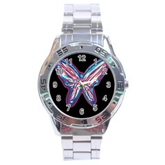 Neon butterfly Stainless Steel Analogue Watch