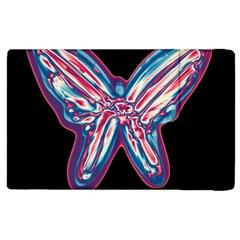 Neon butterfly Apple iPad 2 Flip Case