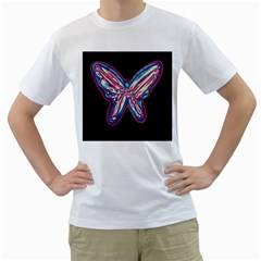 Neon butterfly Men s T-Shirt (White)
