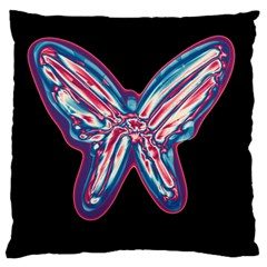 Neon butterfly Standard Flano Cushion Case (Two Sides)