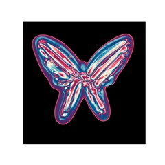 Neon butterfly Small Satin Scarf (Square)