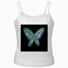 Green neon butterfly Ladies Camisoles