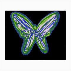 Green neon butterfly Small Glasses Cloth