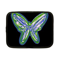 Green neon butterfly Netbook Case (Small)