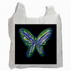 Green neon butterfly Recycle Bag (One Side)